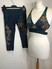 Prana yoga Atalia bikini top bra & Rai swim tight leggings matching set XS VGC