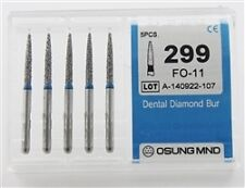Dental Diamond Burs, Standard Grit Multi-Use, 5 Pcs/Pk [299FO-11]
