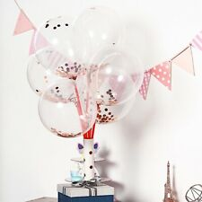 12-Inch Clear with Confetti Round Latex Balloons Party Events Decorations Sale