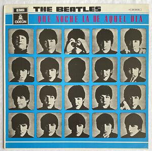 THE BEATLES -A Hard Day's Night- Rare Spanish Odeon Blue Label LP (Vinyl Record)