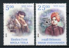 India 2018 MNH Nikola Tesla Swami Vivekananda JIS Serbia 2v Set People Stamps