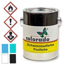 colorado Schwimmbad.- Poolfarbe Teichfarbe 2,5L bassinblau/lichtblau RAL 5012