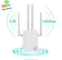 1200Mbps WiFi Range Extender WiFi Repeater Wireless Internet Signal Booster LU