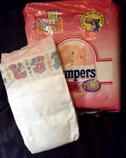 Vintage Pampers Baby-Dry Plus Diaper Sz Midi for Girls Greece Import *Rare*
