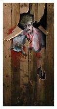 ZOMBIE BUSTING THROUGH DOOR COVER HALLOWEEN PARTY DECORATION FM66534