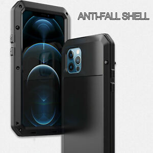 Shockproof Aluminum Gorilla Glass Metal Case Cover for iPhone 12/11 Pro Max SE20