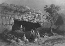ISRAEL. Tombs of Kings, Jerusalem-Bartlett 1847 old antique print picture