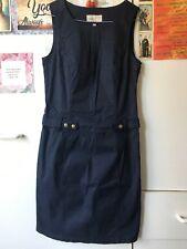 ESPRIT Navy Blue Cotton Sleeveless Shift Dress-8