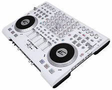 EPSILON QUAD-MIX 4Deck MIDI USB DJ Controller+Mixer+Soundcard+Software WHITE NEW