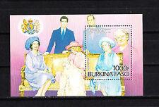 Burkina  Faso   85è anniversaire reine Elizabeth   num:   bloc 27   **