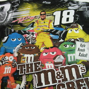 Kyle Busch T Shirt All Over Print Nascar Racing M&M's Chase Authentics LARGE