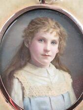 Speaight photographic portrait miniature. c1900. Court photographer