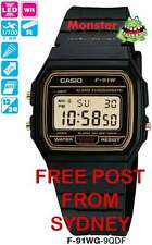 FREE POST FROM SYDNEY CASIO VINTAGE RETRO F-91WG-9 F91 F91W F-91 12-MONTH WARNTY
