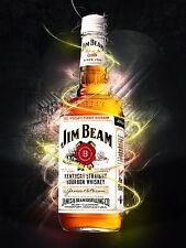 Jim Beam Neon Retro metal Aluminium Vintage Sign Bar Pub Club Man Cave