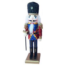Nutcracker Figure Soldier Glitzy Red Sequin Jacket With Sparkle Gold 12 INCH