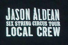 Jason Aldean Local Crew Black T-Shirt - 2016 Six String Circus Tour - XL - New