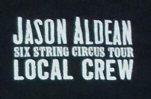 Jason Aldean Local Crew Black T-Shirt - 2016 Six String Circus Tour - XL - New