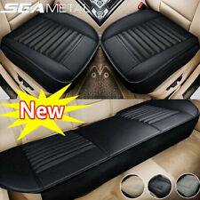 US Universal Car Seat Cover PU Leather Front Rear Set Full Surrounding Cushion