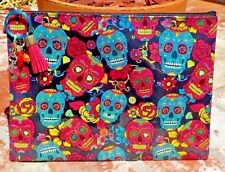 DAY OF THE DEAD SUGAR SKULL COSMETIC / PENCIL BAG KEY CHAIN MEXICO FREE SHIPPING