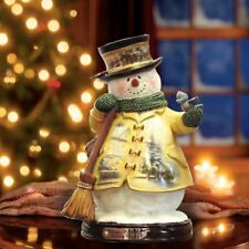 Thomas Kinkade Figurine - Holiday Cheer Snowman New  Item 1513888009 COA