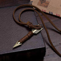 Vintage Men Leather Arrow Retro Necklace Pendant Choker Chain Charm Jewelry Gift