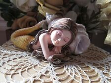 "Sale! Fairy Garden 5"" Mermaid figurine sleeping by a shell New in Box"
