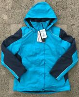 Arctic Womens Muse 3-in-1 Jacket Coat Aqua Blue M Medium Warm Winter Hooded