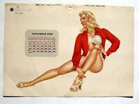 November 1947 Varga Pin Up Calendar Flirty Blond