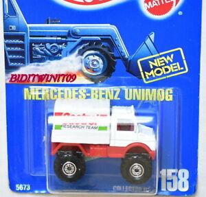 HOT WHEELS 1991 BLUE CARD MERCEDES-BENZ UNIMOG #158