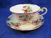 VINTAGE ROYAL SEALY THREE FOOTED TEA CUP AND SAUCER - MADE IN JAPAN - BEAUTIFUL!