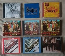 6x Beatles CDs - Live at the BBC Sgt Peppers Lonely Heart LOVE Revolver blue red