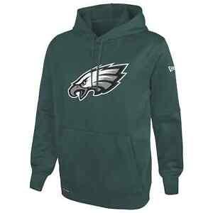 Philadelphia Eagles New Era Stadium Logo Pullover Performance Hoodie - Green