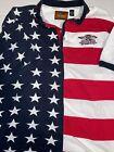Indianapolis Formula One US Grand Prix American Flag Patriotic Polo XL