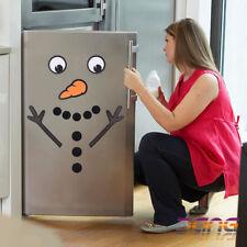 Xmas Christmas Novelty Snowman Fridge Sticker Decal Decoration Fun Home UK