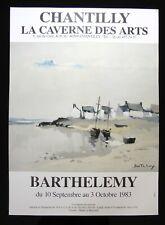 GERARD BARTHELEMY Galerie Caverne des Arts CHANTILLY Octobre 1983