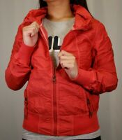 Bench Women's Pink Red Militaristic Zip-Up Jacket (Medium)