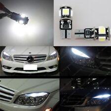 4x White LED NO ERROR Eyebrow Eyelid Lights Bulbs For Benz W204 C300 C350 AMG