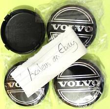 Set of 4x Volvo Hub Caps Alloy Wheel Centre 64mm V50 V70 XC60 XC90 Black