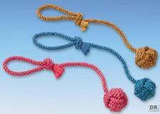 Knotenball mit Wurfschlaufe Hundespielzeug