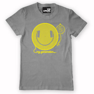 DMC Technics My Generation Smiley Happy DJ Headphones t-shirt (s/m/l/xl/xxl)