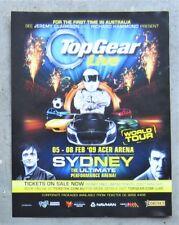 TOP GEAR LIVE WORLD TOUR SYDNEY 2009 Magazine Page Sales Ad Advertisement STIG