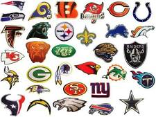 All 32 NFL, National Football League Teams Logo embroidered iron on patch lot.