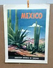 AFFICHE   ANCIENNE MEXICO MEXIQUE AMERIQUE DU SUD DIRECCION GENERAL DE  TURISMO