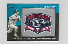 Joe Mauer Twins 2010 Topps Commemorative Patch #MCP-47