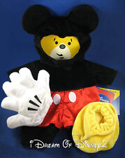 BUILD-A-BEAR DISNEY MICKEY MOUSE TEDDY COSTUME EARS & GLOVES 6 PC OUTFIT NEW