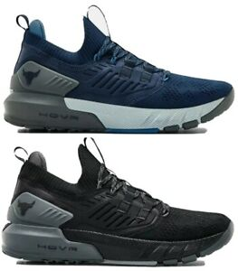 Under Armour Project Rock 3 Training Shoes Black Academy Blue Mens Gym Workout