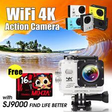 4k Ultra Full HD 1080p 2'' WiFi Sports DV Action Camera 16mp Camcorder Remote