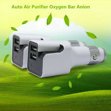 Car Charger Air Purifier Negative Ion Ionizer Oxygen Generator Cleaner Ozonator