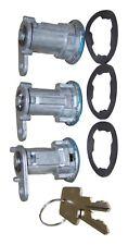 Door Lock Cylinder Set of 3 for Jeep CJ Wrangler YJ Cherokee XJ 84-90 8122874K3