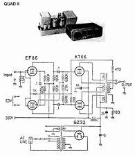 Quad II 2+ 22 Power Amplifier Schematics + Owner Manual